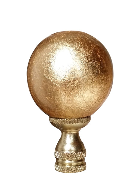 Large Gold Gilded Ball Finial