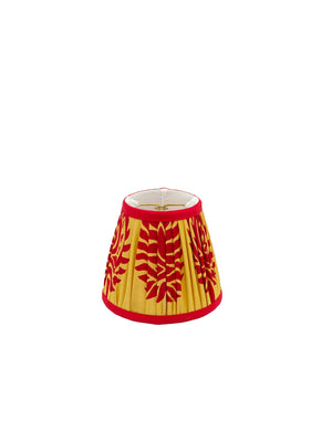 Gathered Empire - Yellow/Red Leaf Lampshade