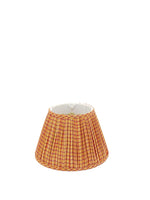 Gathered Yellow/Red Check Empire Lampshade