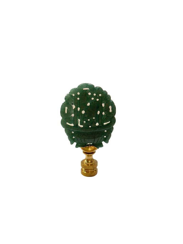 Green Jasper Flower Basket Finial