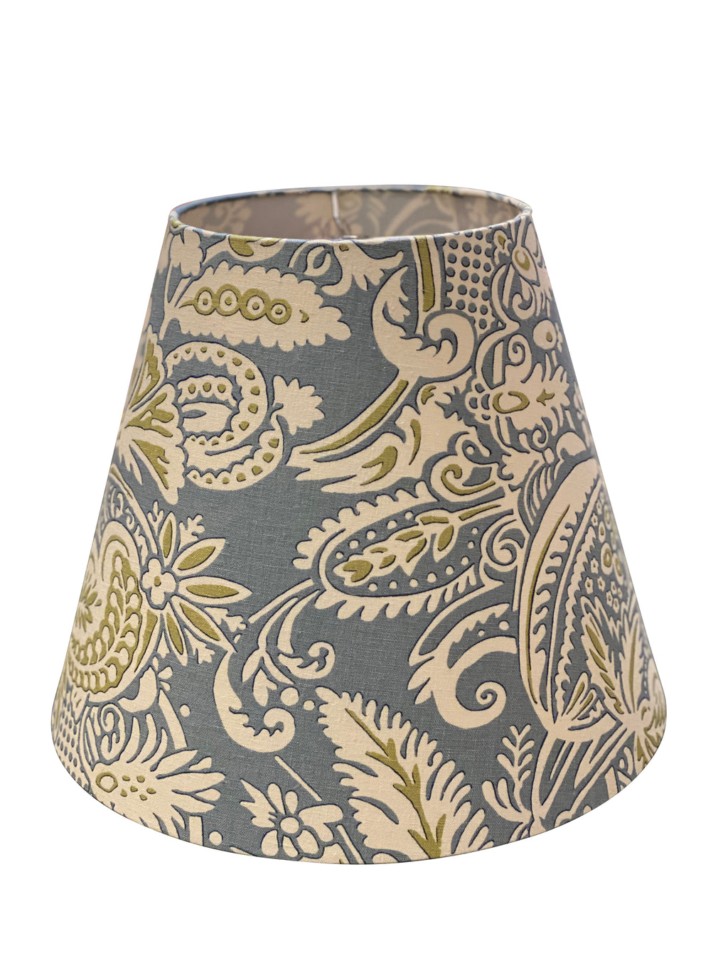 Blue/Green/White Paisley Empire Lampshade