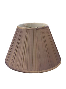 Purple Silk Derby Pleat Empire Lampshade