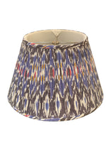 Gathered Empire, Blue/Black Ikat, Reg. Trim Lampshade