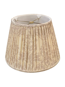 Gathered Cream & Iridescent Purple Empire Lampshade