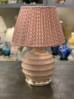 Christopher Spitzmiller Wide Ribbed Ball Lamp, Blush