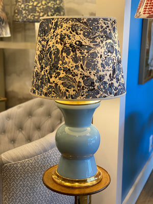 Modern Blue Floral, Medium Plus Empire Lampshade