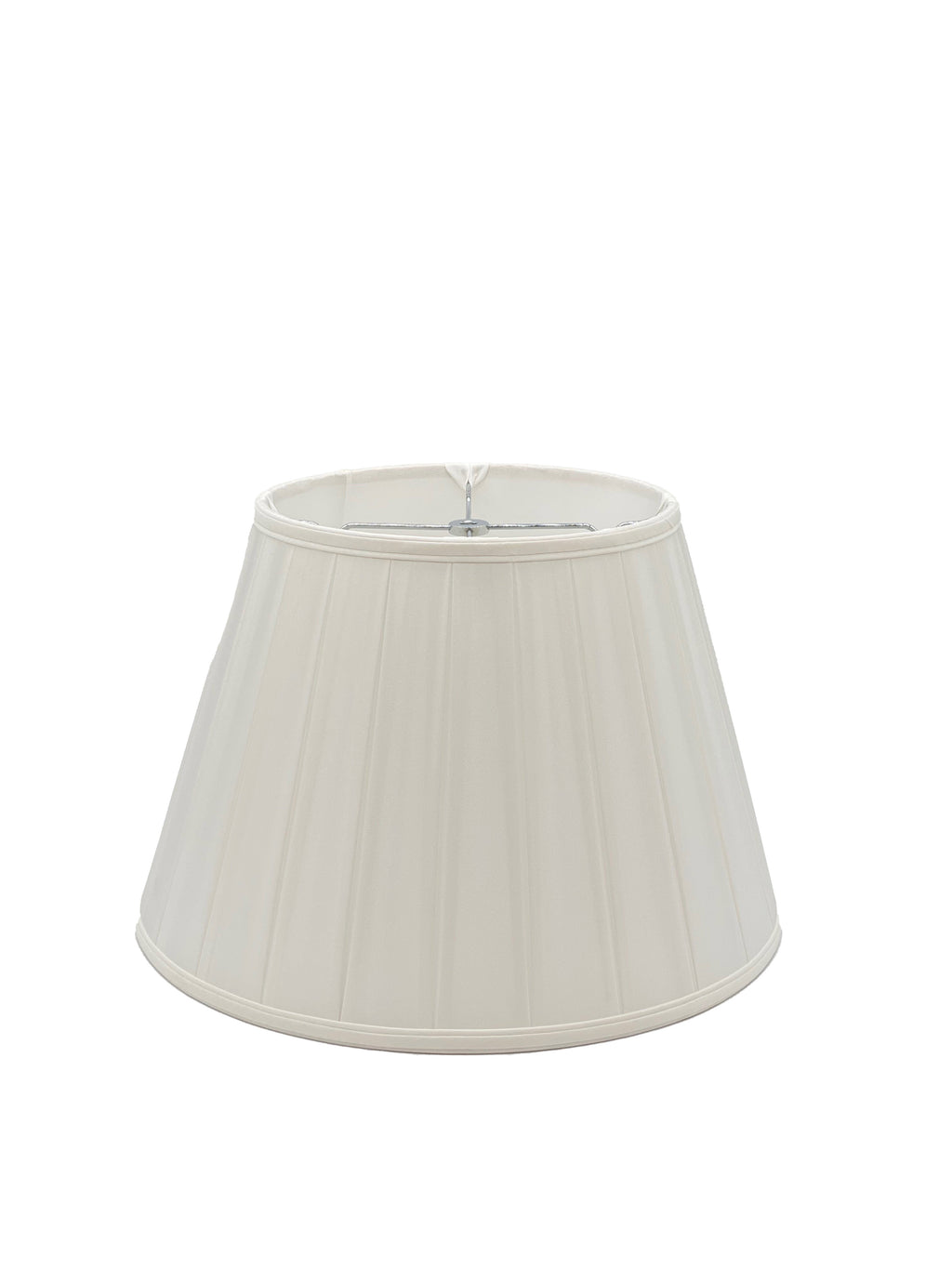 Silk English Empire Wide Box Pleat - Bone - Lampshade