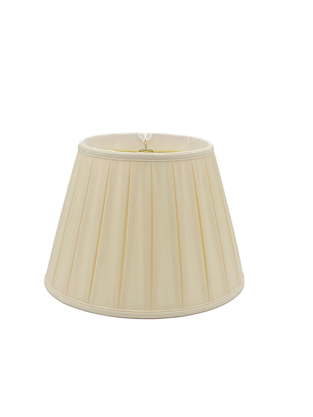 Silk English Empire Wide Box Pleat - Egg - Lampshade