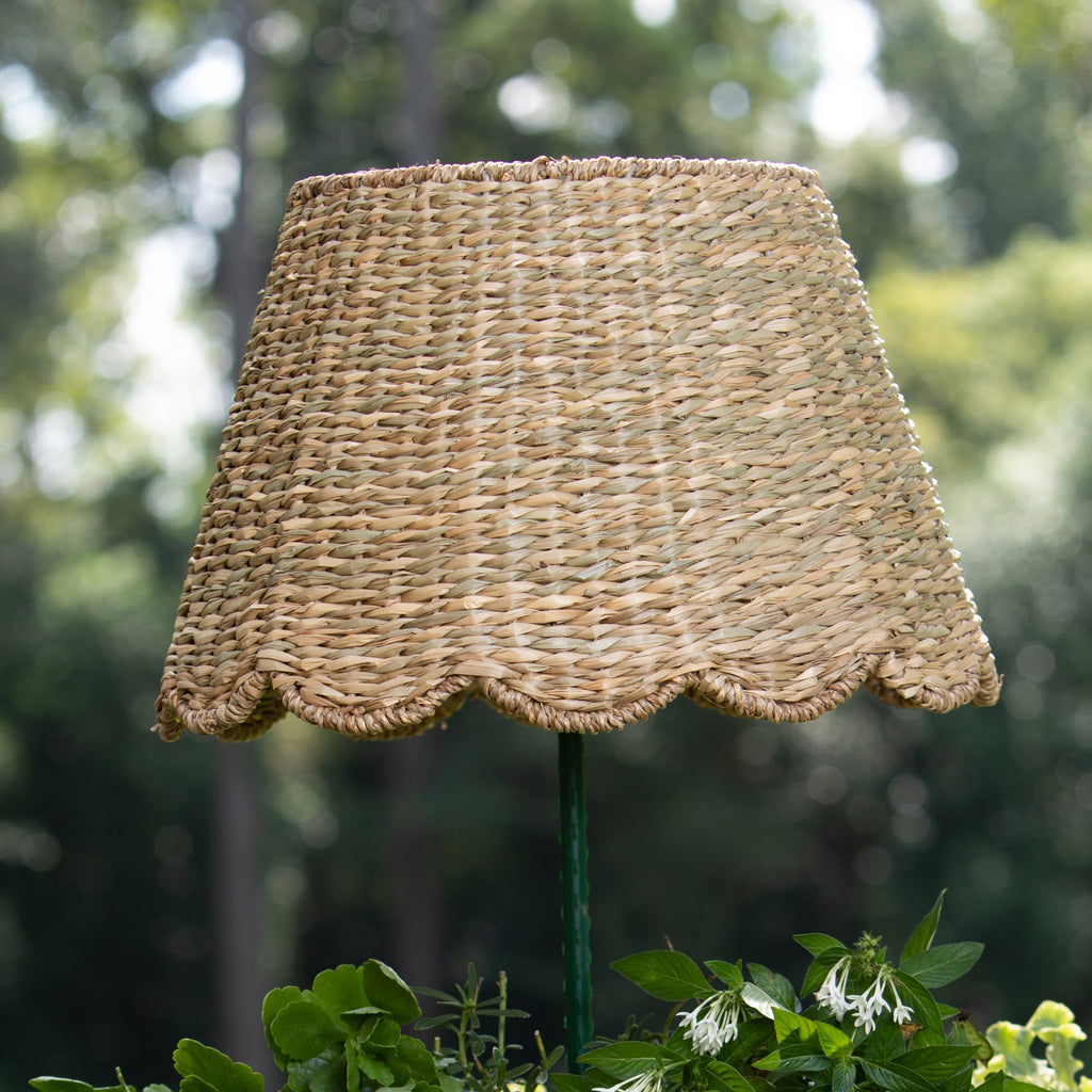 Scallop - Seagrass Natural Woven Lampshade