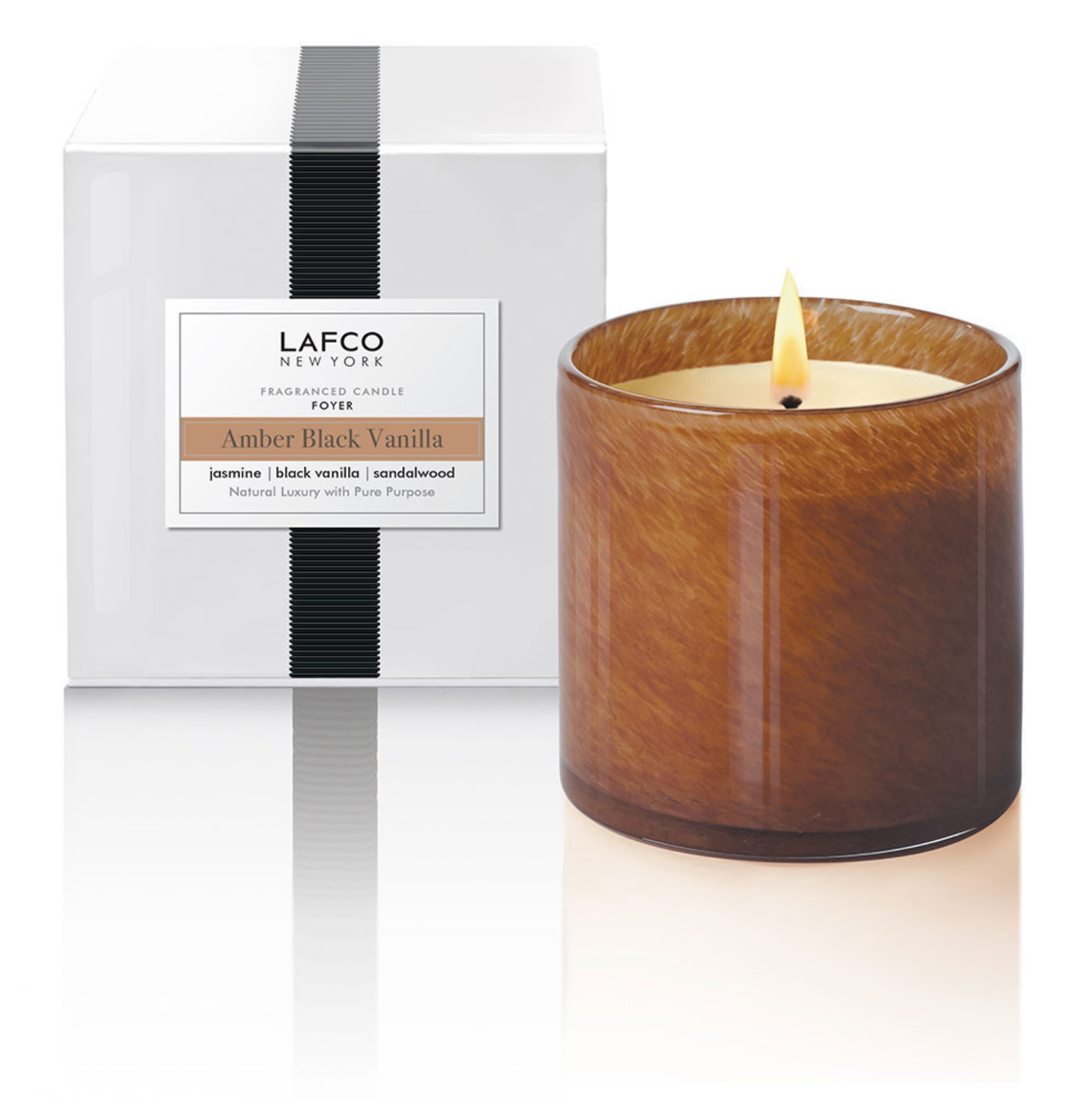 Amber Black Vanilla - Foyer Candle