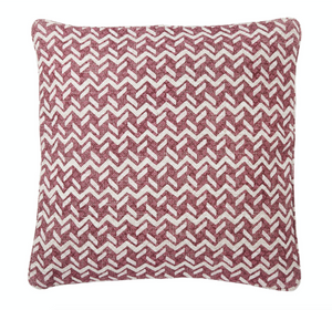 Small Square Pillow in Red Chiltern