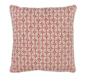Small Square Pillow in Red Hamble