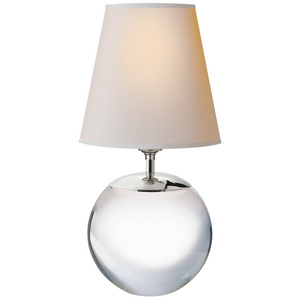 Terri Large Round Table Lamp in Crystal