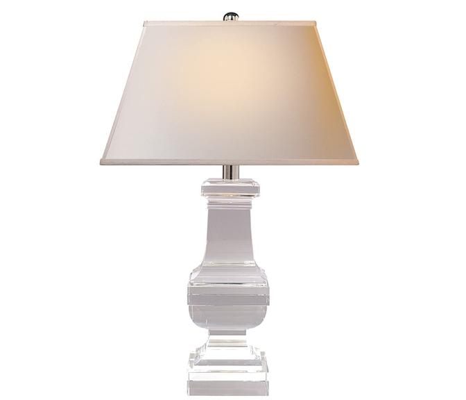 Square Balustrade Table Lamp in Crystal
