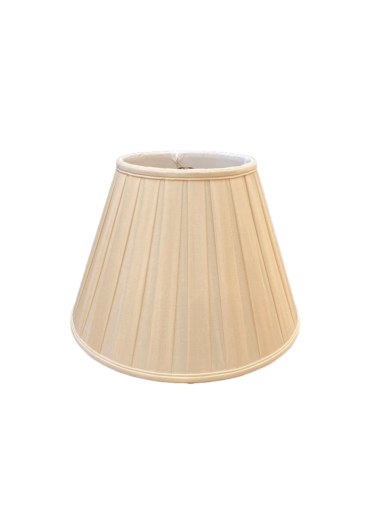 Silk English Box Pleat - Sand Lampshade