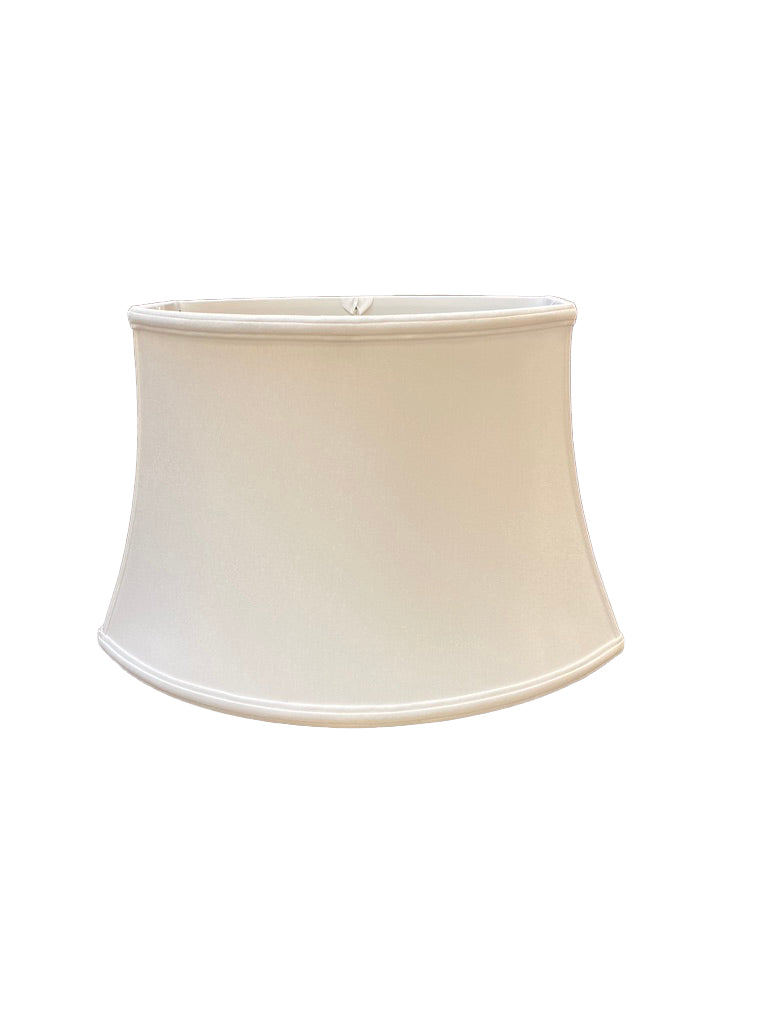 Slubless Antique Chipped Oval - Bone Lampshade