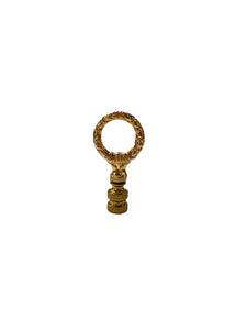 Small Closed Wreath Polished Brass Finial