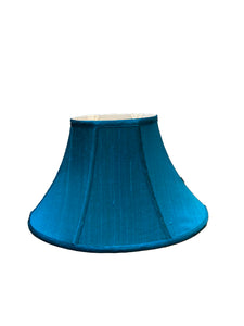 Tapered Oval Bell - Emerald, Burmese Silk Lampshade