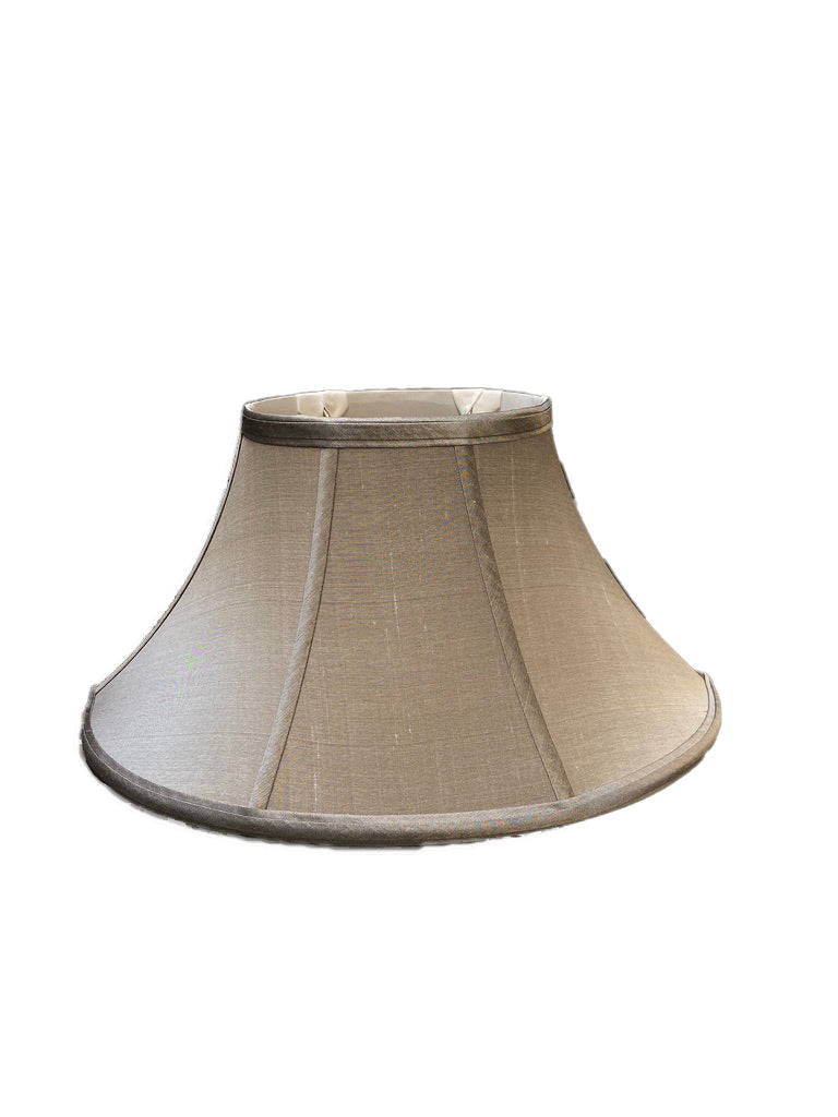 Tapered Oval Bell - Silver, Pure Silk Lampshade