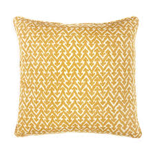 Fermoie Small Square Cushion in Yellow Rabanna