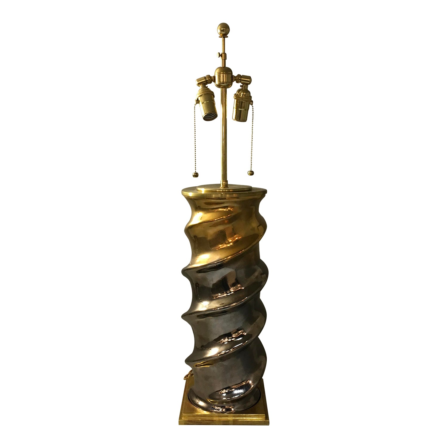 Christopher Spitzmiller Mixed Metal Lamp