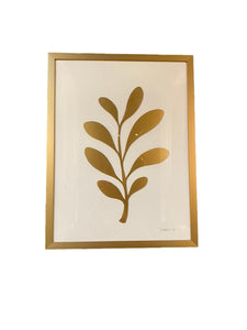 Abstract Flora Print, Gold