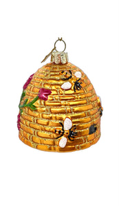 Gold Beehive Ornament