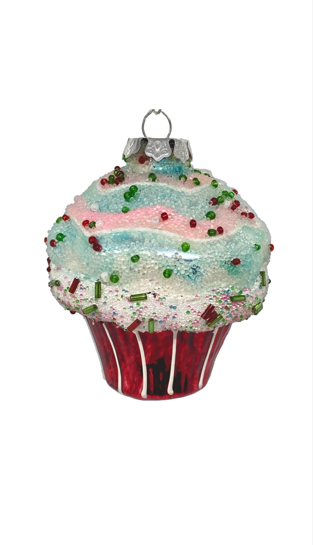 Large Glass Cupcake Ornament