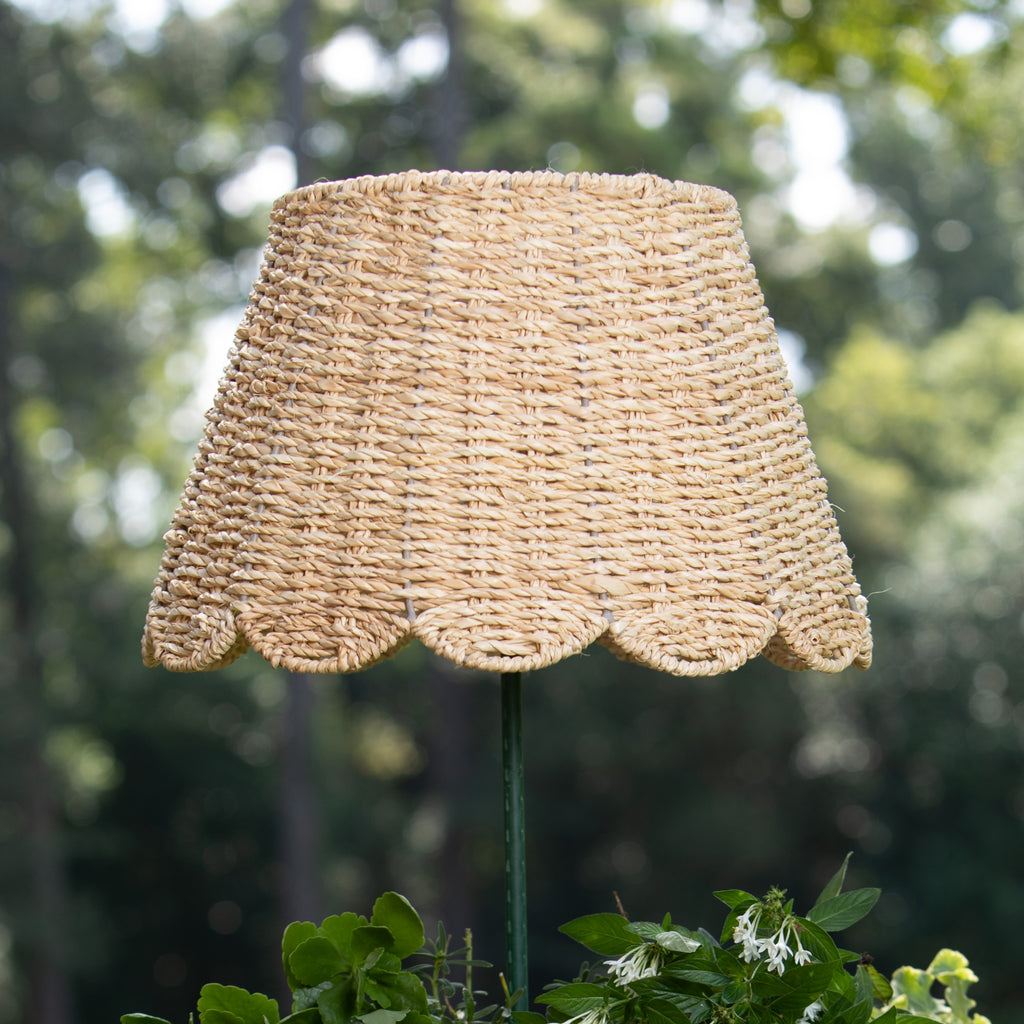 Scallop - Twisted Seagrass Ivory Woven Lampshade