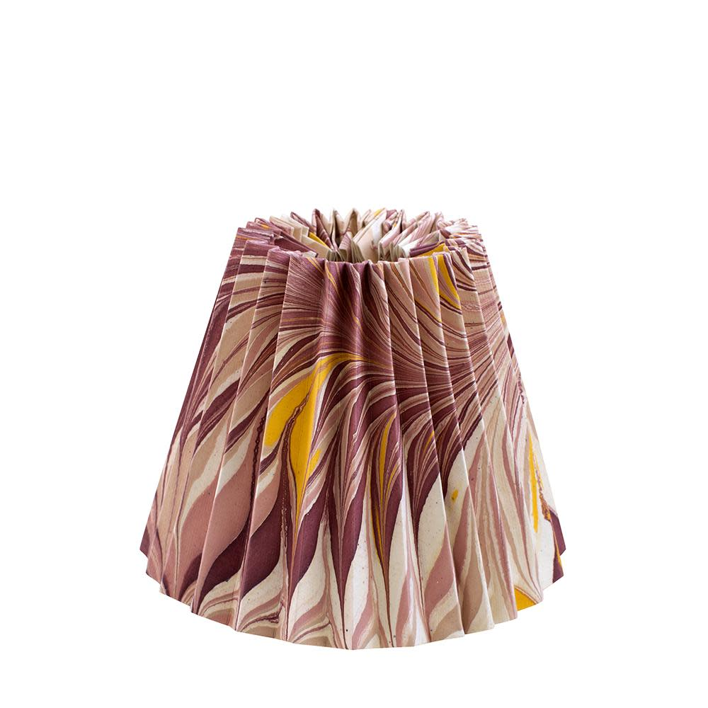 Pink and Yellow Star Anise Pleated Empire Lampshade