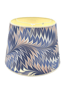 Pink and Blue Star Anise Empire Lampshade