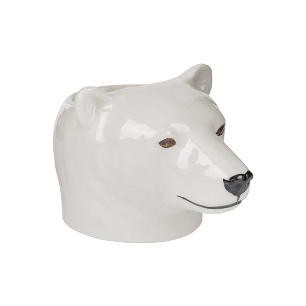 Polar Bear Face Egg Cup - by Quail Ceramics