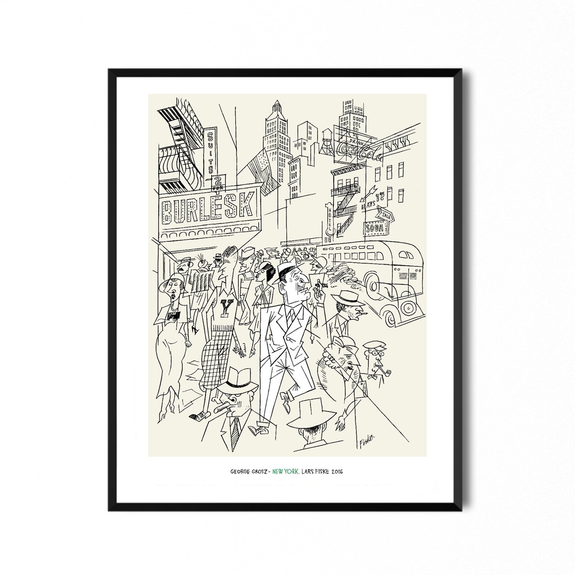 George Grosz New York 50x70 - Print