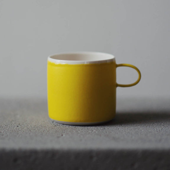 Coffee Cup Yellow - By To Komma Fire Kvadrat