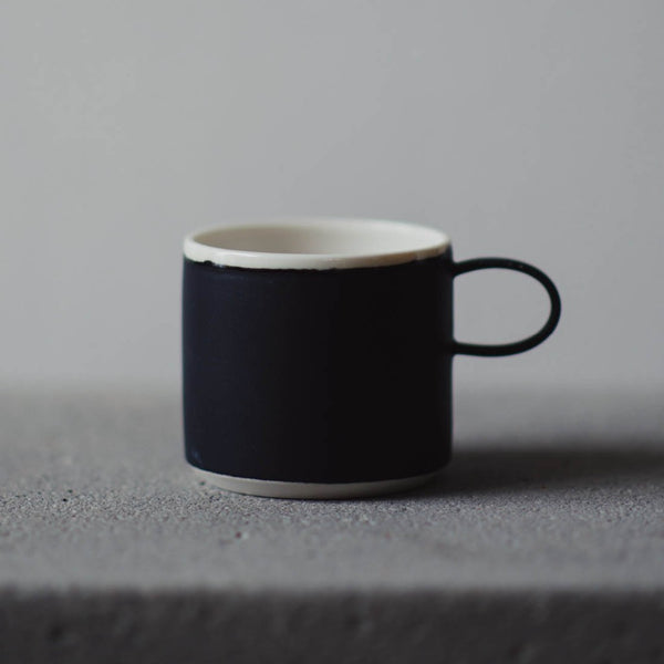 Coffee Cup Black - To komma Fire Kvadrat