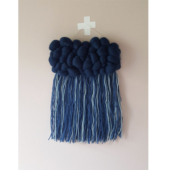 Woven Wallhanging Dark Blue Small - by Anne Djupvik Andersen