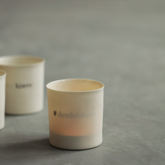 Tea Light Holder; #denfølelsen - By Mijo Design