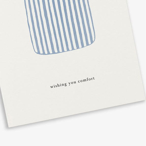 Greeting Card Duvet (wishing you comfort)- By Kartoteket