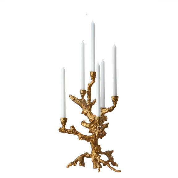 Candle Holder Apple Tree Gold - By Pols Potten