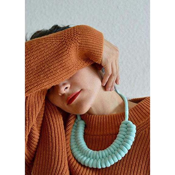 Macrame Necklaces Ocean Blue - Studio Folklore
