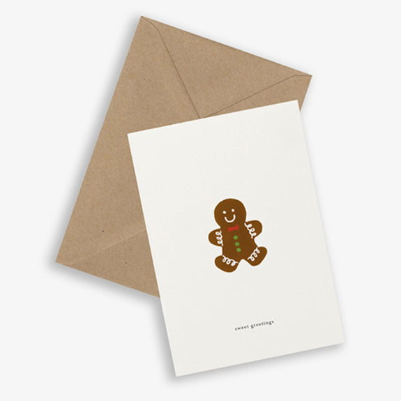 Greeting Card Gingerbread (sweet greetings)- By Kartoteket