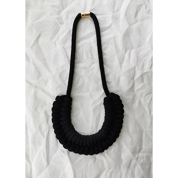 Macrame Necklaces Black - Studio Folklore