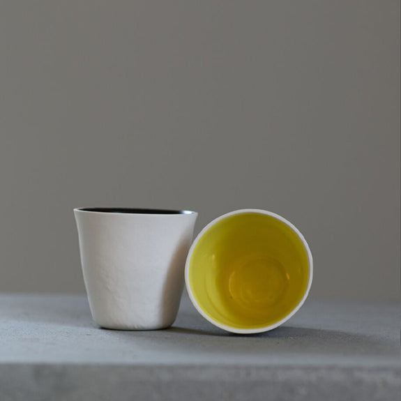 Tea Light Holder/ Yellow Inside - by Leirbrent