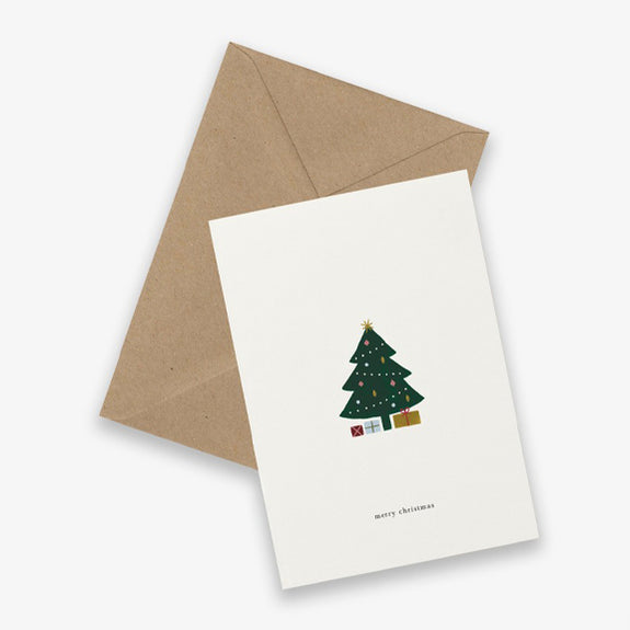 Greeting Card Christmas tree (merry christmas)- By Kartoteket