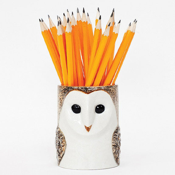 Barn Owl Pencil Pot - by Quail Ceramics