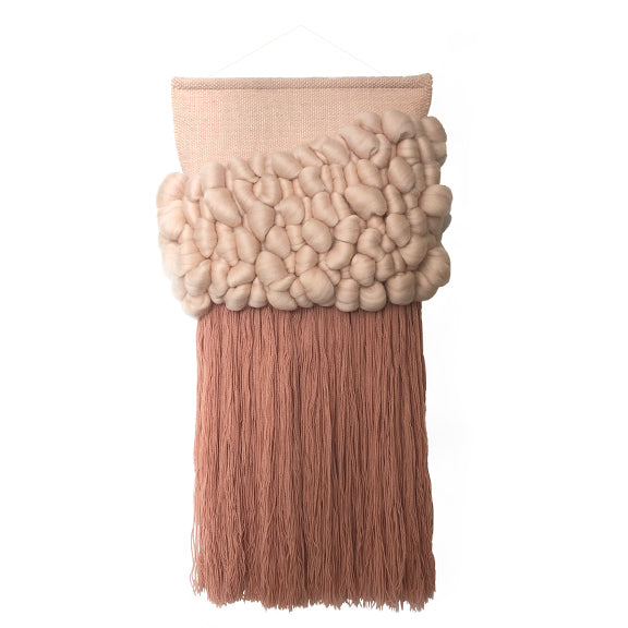 Woven Wallhanging Light Pink XL - by Anne Djupvik Andersen