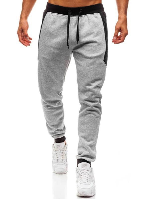 Men Casual Solid Tapered Joggers