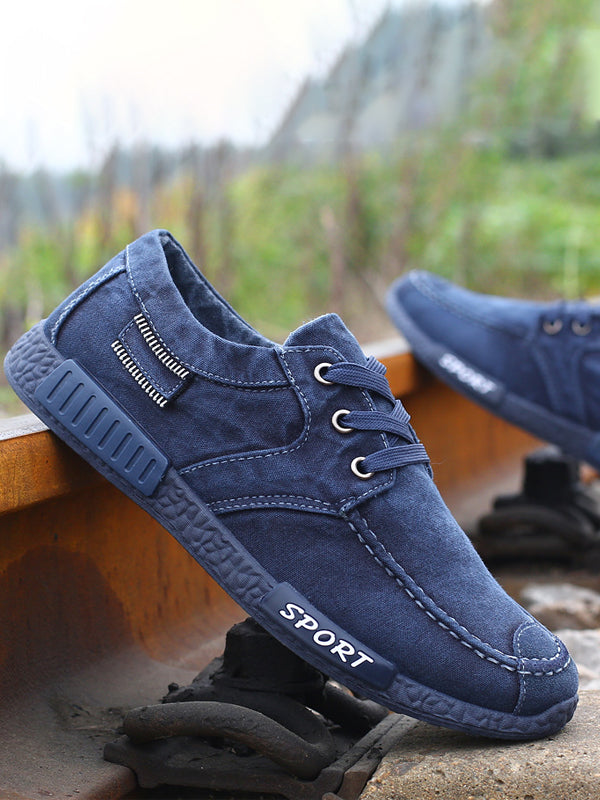 Lace-Up Denim Casual Shoes