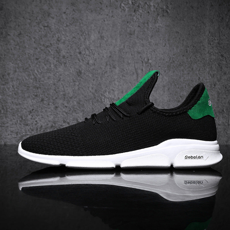 Men Casual Lace-Up Mesh Athletic Shoes