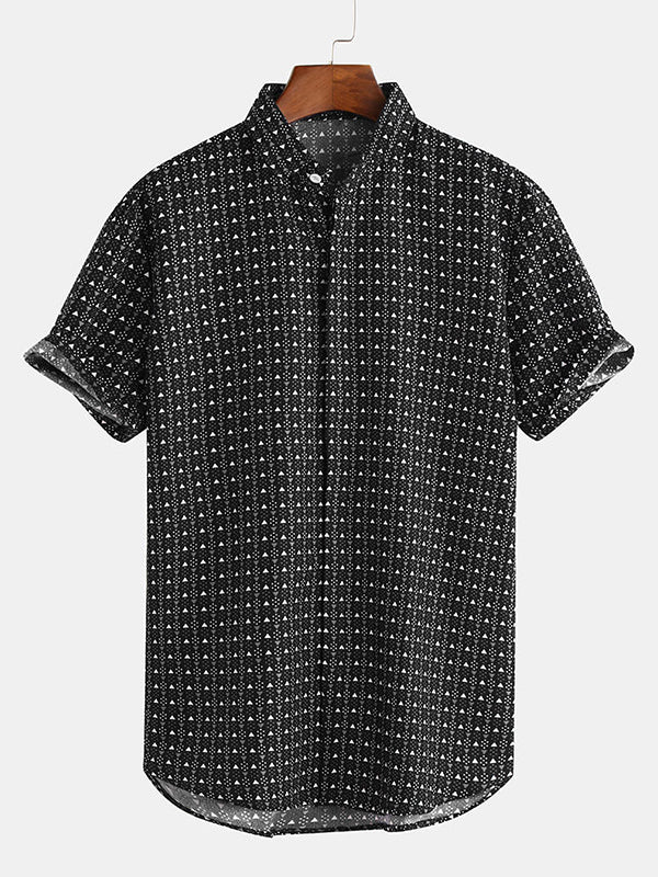 Men Fashion Geometric Patterns Shirt